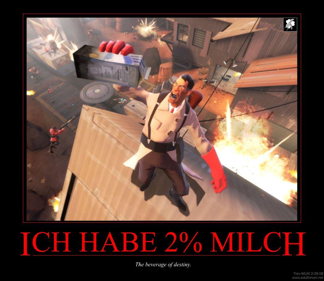 The demotivator game TF2_Demotivator_-_2_Percent_Milch